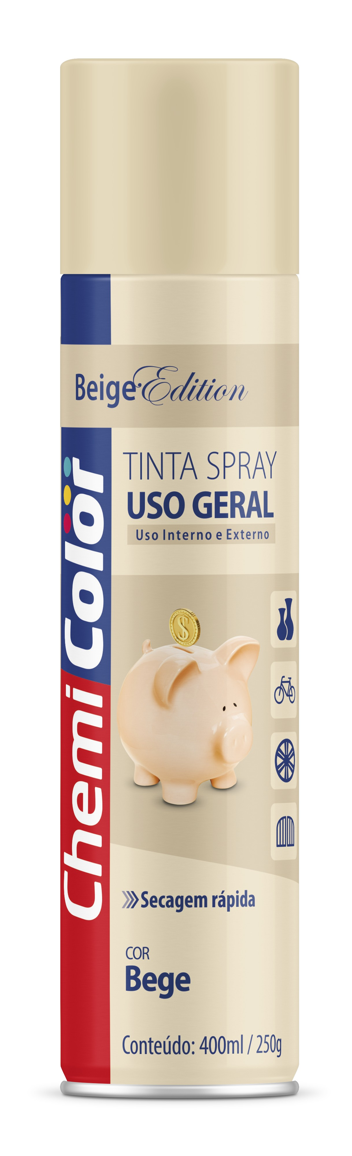 SPRAY BEGE USO GERAL 250G CHEMICOLOR